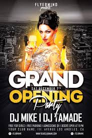 club flyer templates grand opening party free club psd flyer template download free psd