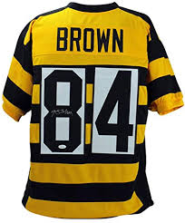 Steelers Store Signed Sports Jersey Amazon's Witness Brown Collectibles Authentic Antonio Bumblebee Autographed Jsa At