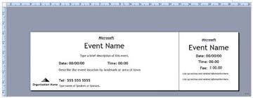 Raffle Ticket Template Publisher Publisher Ticket Template Ticket Template Publisher Event Ticket
