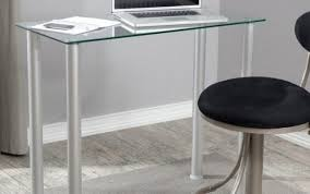desk black table corner laptop adjule argos glass top heat small white office licious