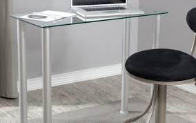 desk black table corner laptop adjule argos glass top heat small white office licious