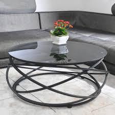523397462499 toughened glass coffee table creative circular iron
