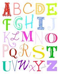 Free Wall Printables Alphabet Wall Art Free Printables