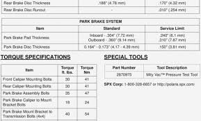Minimum Rotor Thickness Chart Chevy 59 Bright Brake Pad Thickness Chart