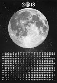 Moon Phases Calendar 2018 His Original Artwork Was Made By