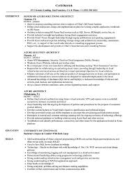 Azure Resume Azure Architect Resume Samples Velvet Jobs 1