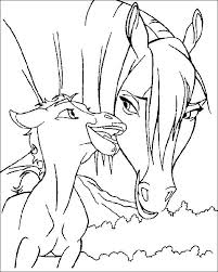 coloring pages spirit the wild horse