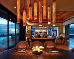 creative home lighting. Decorative Bamboo Poles Creative Home Lighting Dining Room Decor Ideas E