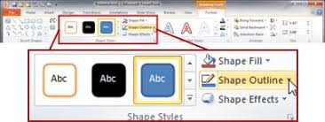 under drawing tools the format tab in the powerpoint 2010 ribbon