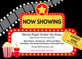 Movie Night Invitation Template Free Movie Night Invitation Templates Movie Night Invitations Template