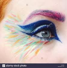 eye colourful makeup