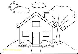 Gingerbread House To Color Coloring Pages Of Gingerbread Houses