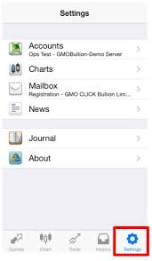 Quotes Charts Trade History Settings App Mt4 For Ios