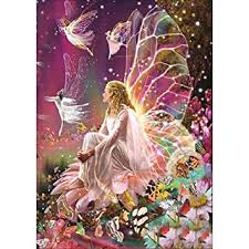 YIGO DIY 5D <b>Diamond Painting</b>, <b>Fairy</b> Queen on The Flower, a ...