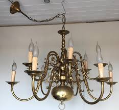 ch vintage antique brass 12 branch flemish chandelier french