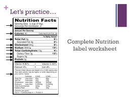 nutrition label worksheet for plete cool answer key oreos