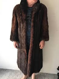 alluring long classic brown genuine fox fur coat cozy and comfy women s size medium