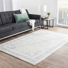 white area rug living room. Maison Rouge Millay Medallion Grey/ White Area Rug (5\u0026#x27; X 7\u0026 Living Room S