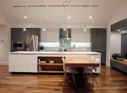 modern track lighting kitchen contemporary with glass backsplash gray stained