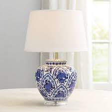 A classic silhouette in timeless blue and white. Our Round Table Lamp Base  is crafted