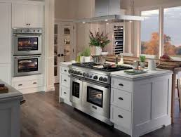 Captivating Kitchen Island With A Cooker And An Oven