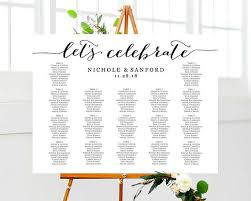 Lets Celebrate Seating Chart Template Wedding Table Plan