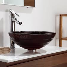 Kraus GV69319MM 17 Inch Iris Glass Vessel Sink with Solid Tempered ...