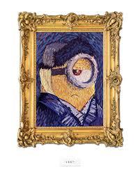 minion self portrait in the style of vincent van gogh model stuart