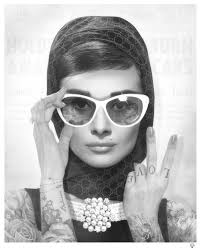 Peace, Love & Audrey - Black & White Tattoo by JJ Adams // From £407.50  exVAT - Prints & Sculptures
