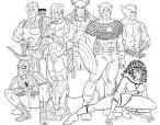 Раскраска героев игр