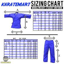 New Detailed Uniform Sizing Charts Karatemart Com