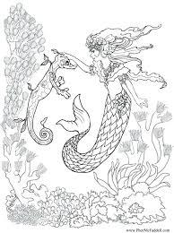 Coloring Pages Printable Baby Mermaid Coloring Pages Cute Mermaids