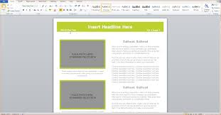 Template 3 Microsoft Word Newsletter Template Outline Templates