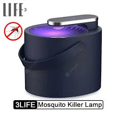 3 LIFE Electric Mosquito Killer Lamp USB Rechargeable Electric ...