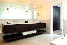 hanging vanity bathroom hanging vanity units long black wooden modern floating vanities with chic mirror for hanging vanity