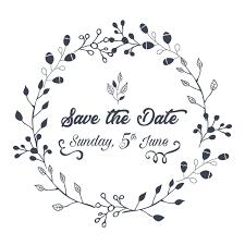 結婚式の招待日のイラストを保存 結婚式の招待状ビンテージ花