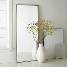 ... White Classic Floor Vase Ideas Perfect Decoration Interior Old Stylish  Yellow Flowers Large Big Mirror ...