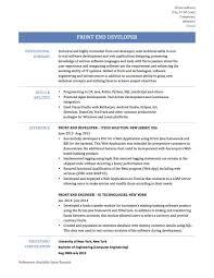 Front End Web Developer Resume Sample Download Front End Developer Resume Sample DiplomaticRegatta 18