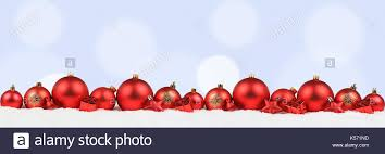 christmas ornament banner. Delighful Christmas Christmas Balls Banner Red Decoration Light Blue Background Snow Winter  Copyspace Copy Space Text Throughout Ornament Banner
