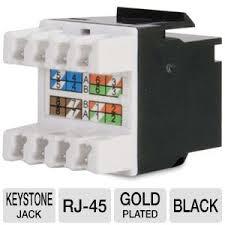 keystone jack wiring keystone image wiring diagram c2g premise plus cat5e rj45 utp keystone jack black modular on keystone jack wiring