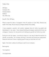 Two Weeks Notice Letter For Daycare Two Weeks Notice Template Best Writing A Letter Sample For