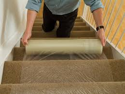 Plastic Carpet Cover Protector Founder Stair Design clear plastic rug cover Fleur De Lis Rug