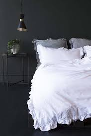 malmo washed cotton duvet cover soft white