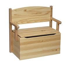 Furniture Box Amazoncom Little Colorado Bench Toy Box Unfinished Toys Games