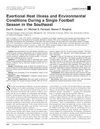 Pdf Exertional Heat Illness And Environmental Conditions