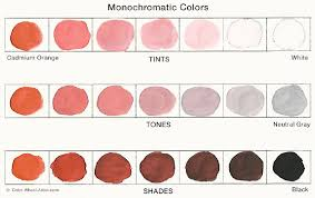 Shades of orange paint Light Paint Swatches Showing The Variety Of Tints Tones And Shades Possible In Monochromatic Color Glidden Paint Monochromatic Color Scheme Tips And Tricks One Is Not Lonely