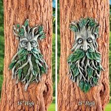tree face decor outdoor decor tree man face planter garden art or bird feeder resin patio tree face decor outdoor