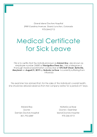 Medical Certificate Format For Sick Leave For Employees New 23 Of ...