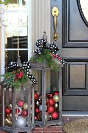 Hauseingang Dekorieren Weihnachten Große Laternen