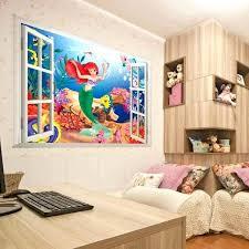 mermaid wall stickers living bed room decoration colorful cartoon mermaid sea world vinyl wall sticker decal mermaid wall stickers